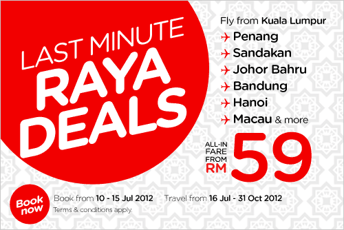 AirAsia Promotion - Last Minute Raya Deals