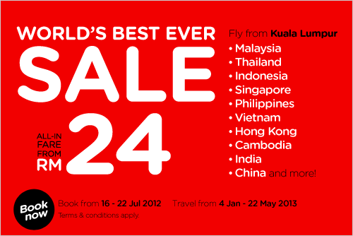 AirAsia Promotion - World's Best Ever Sale