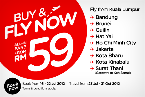 AirAsia Promotion - Buy and Fly Now