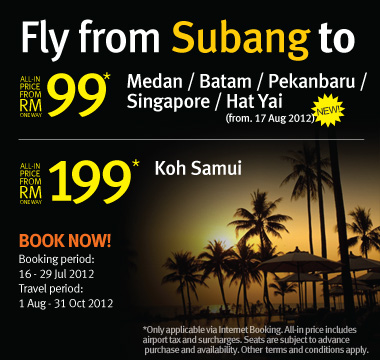 Firefly Promotion - Fly from Subang to Koh Samui from RM199*