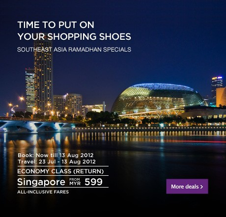 Malaysia Airlines Promotion - Put on your shopping shoes