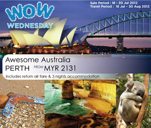 Malaysia Airlines Promotion - Wow Wednesday