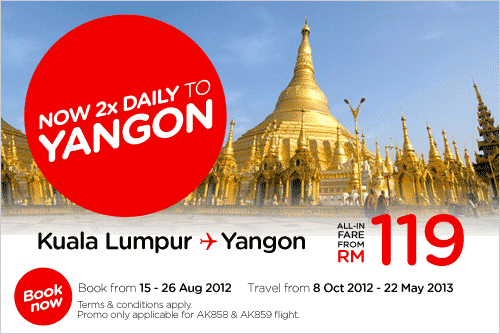 AirAsia Promotion - 2x Daily To Yangon