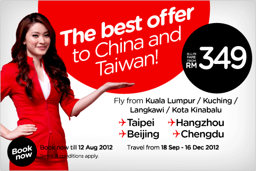 AirAsia Promotion - Best Offer to China and Taiwan