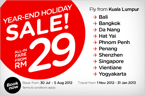 AirAsia Promotion - Year-End Holiday SALE!