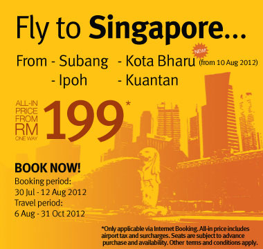 Firefly Promotion - Fly to Singapore