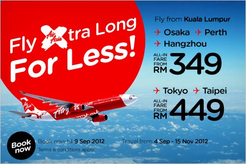 AirAsia Promotion - Fly Extra Long For Less