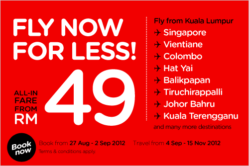 AirAsia Promotion - Fly Now For Less