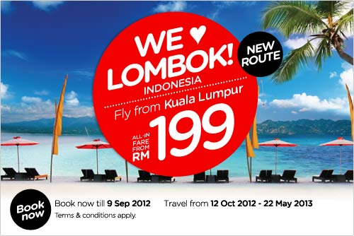 AirAsia Promotion - We Love Lombok