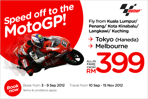 AirAsia Promotion - Speed off to MotoGP