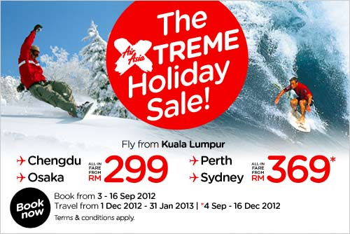 AirAsia Promotion - The Extreme Holiday Sale