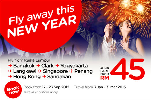 AirAsia Promotion - Fly Away This New Year