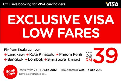 AirAsia Promotion - Exclusive Visa Low Fare