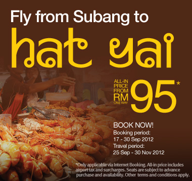Firefly Promotion - Fly from Subang to Hat Yai