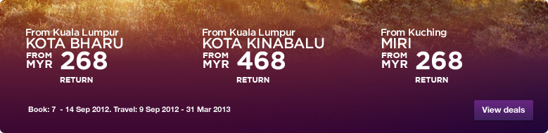 Malaysia Airlines Promotion - Great travel deals
