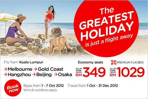 AirAsia Promotion - The Greatest Holidays