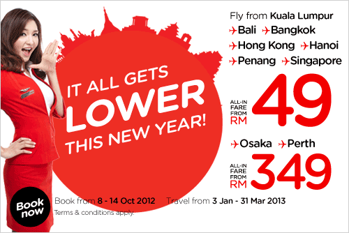 AirAsia Promotion -Book The Lowest Fare Now