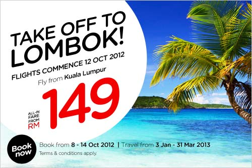 AirAsia Promotion - Take Off To Lombok