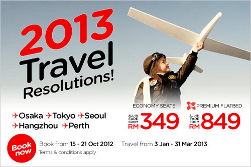 AirAsia Promotion -2013 Travel Resolutions