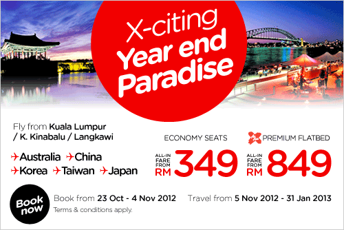AirAsia Promotion -Exciting Year-End Paradise