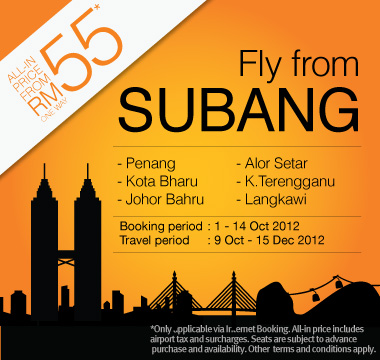 Firefly Promotion - Fly from Subang from RM55