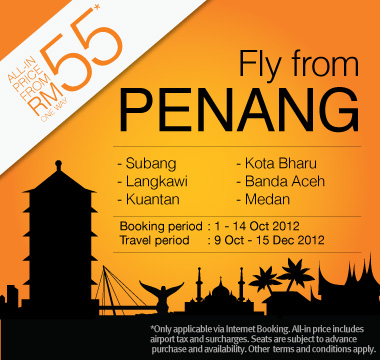 Firefly Promotion - Fly from Penang from RM55