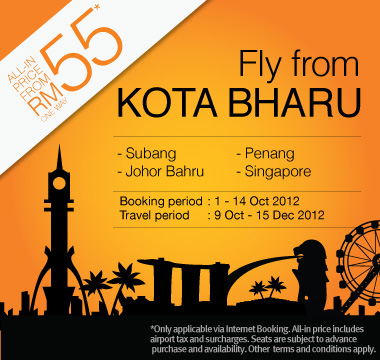 Firefly Promotion - Fly from Kota Bharu from RM55