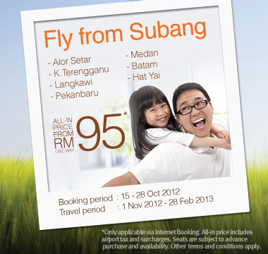 Firefly Promotion - Fly from Subang from RM95