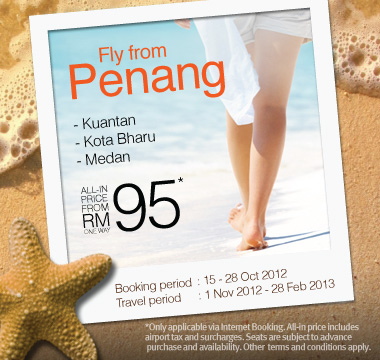 Firefly Promotion - Fly from Penang from RM95
