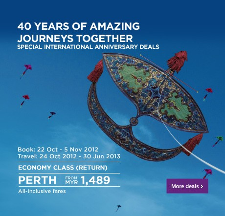 Malaysia Airlines Promotion - Amazing Journeys