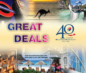 Malaysia Airlines Promotion - 40th Anniversary Deals