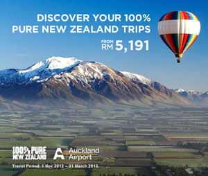 Malaysia Airlines Promotion - New Zealand Tour