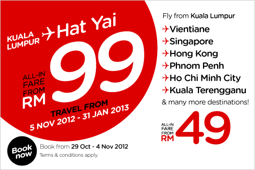 AirAsia Promotion - Book the lowest fares now!