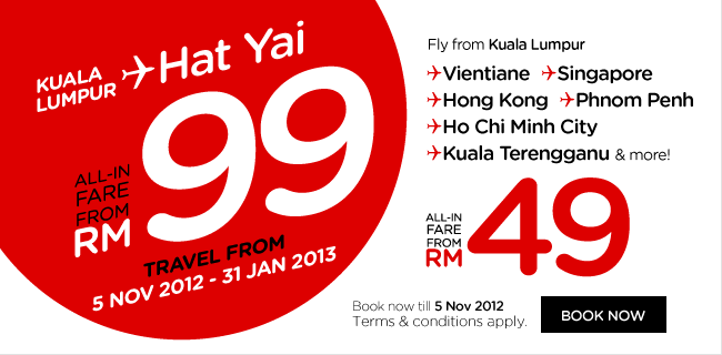 AirAsia Promotion - Book the lowest fare