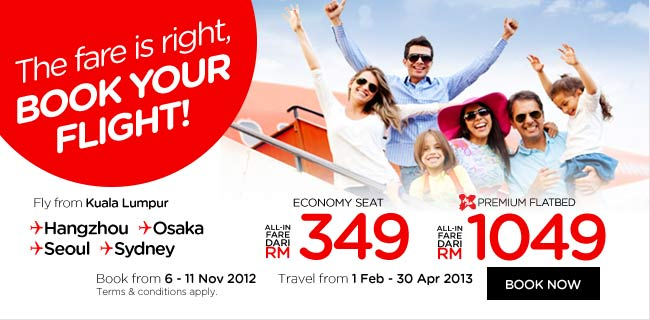 AirAsia Promotion - The fare is right