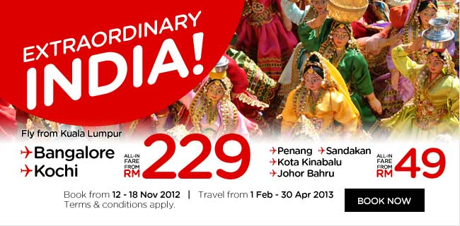 AirAsia Promotion - Extraordinary India
