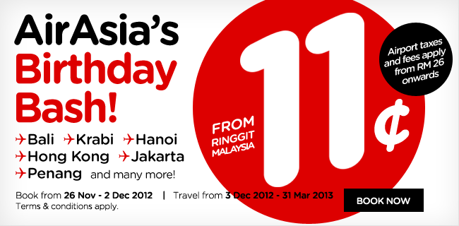 AirAsia Promotion - AirAsia's Birthday Bash