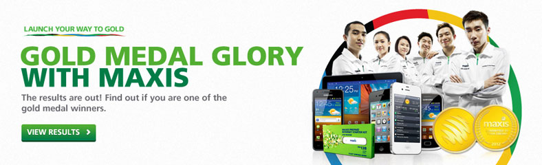 Maxis Promotion: Gold Medal Glory With Maxis