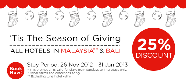 TuneHotels Promotion - The Season of Giving