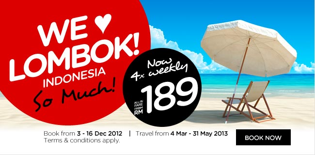 AirAsia Promotion - We Love Lombok!