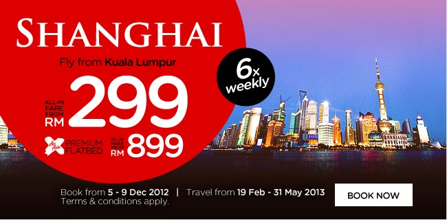 AirAsia Promotion - Shanghai - 6x weekly flights