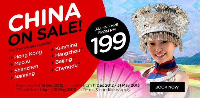 AirAsia Promotion - China on Sale