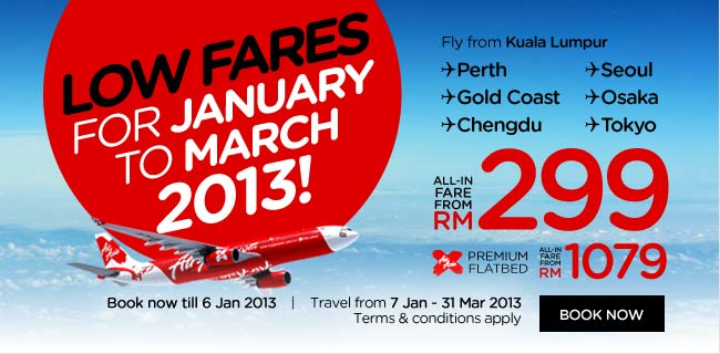 AirAsia Promotion - Low Fares 2013