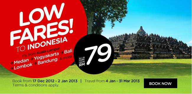 AirAsia Promotion - Low Fares to Indonesia