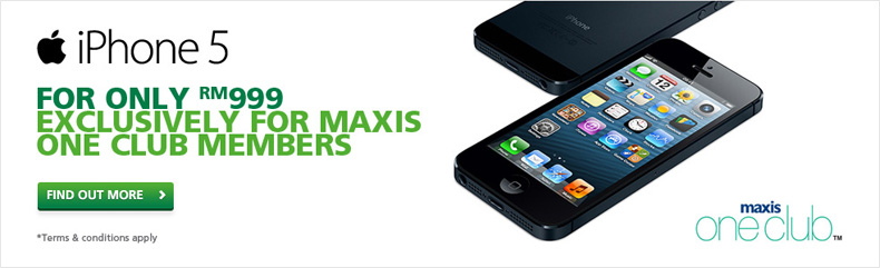 Maxis Promotion: iPhone 5 for Maxis One Club Members