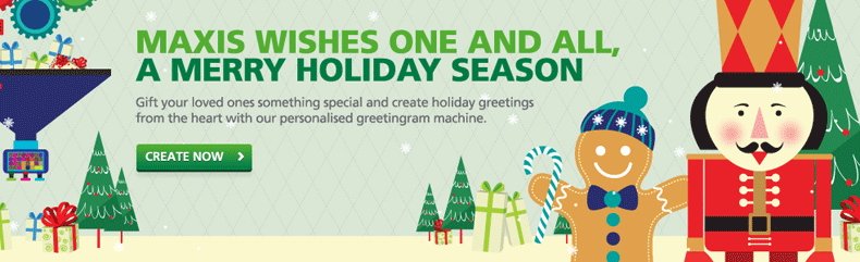 Maxis Promotion: A merry holiday season*