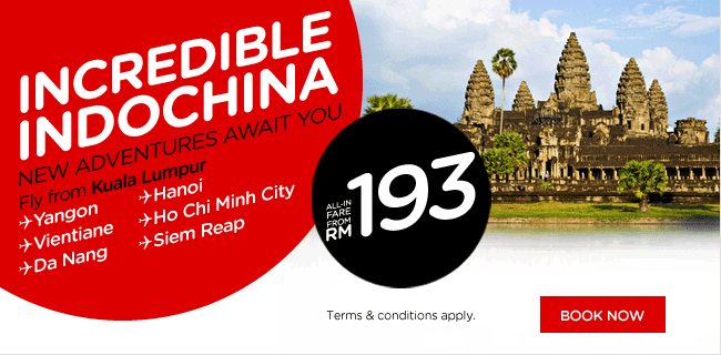 AirAsia Promotion - Incredible IndoChina