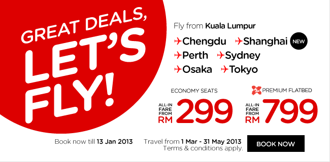 AirAsia Promotion - Great Deals, Let's Fly!