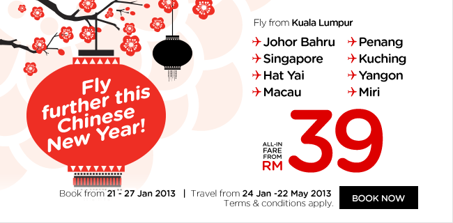 AirAsia Promotion - Fly Further This Chinese New Year