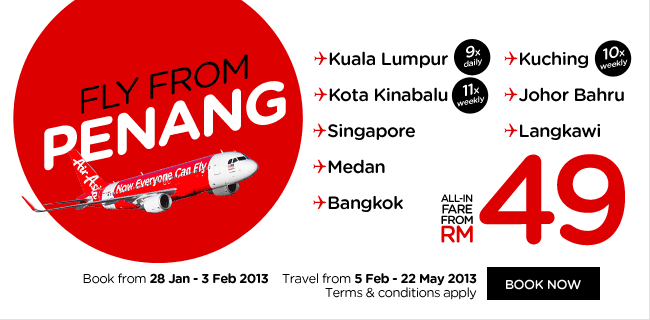 AirAsia Promotion - Fly from Penang